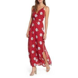 Lush Dresses - 3/$50 LUSH FLORAL SURPLICE RED BLUE MAXI DRESS